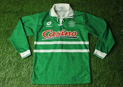 SAINT ETIENNE FRANCE 1994/1995 RARE FOOTBALL SHIRT JERSEY HOME LOTTO ORIGINAL image