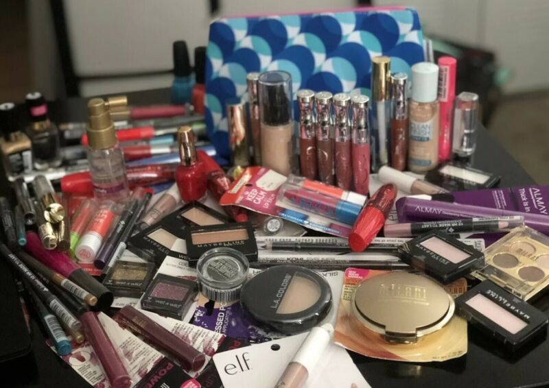 Premium Makeup Lot Revlon,Almay,Maybelline, Other 20Pcs + Clinic Bag Free Deal!