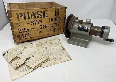 Phase Ii 5c Collet Index Spin Index Fixture 225 204 W Original Crate