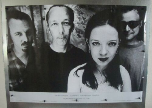 "Garbage Band Vintage Music Poster 34""W x 24""H 1996 Used Pre-Owned"