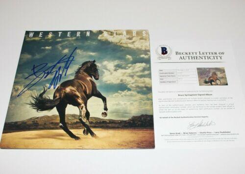 BRUCE SPRINGSTEEN SIGNED 'WESTERN STARS' ALBUM VINYL RECORD LP BECKETT COA 2019