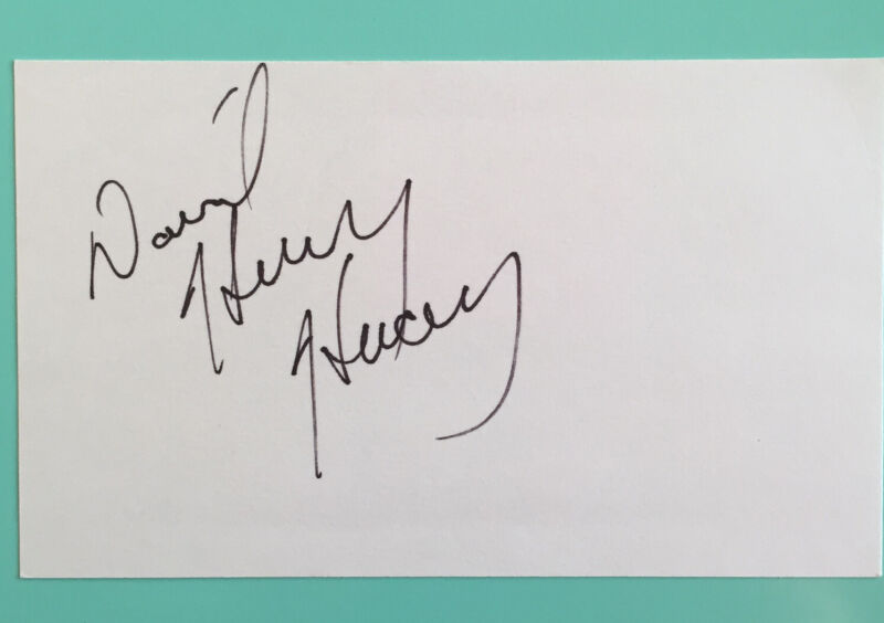 David Henry Hwang Signed Index card 3X5 M. Butterfly Golden Child  TV The Affair