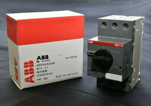 ABB MS116 Manual Motor Starter 1.6 - 2.5 A 1SAM250000R1007 NEW
