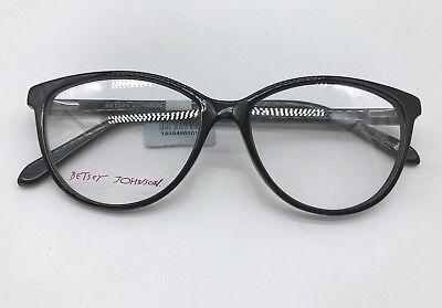 Betsey Johnson Kewl Authentic Designer Eyeglasses Frame 53-15-140 Black Glasses