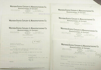 1928 Lamson Goodnow Western States Cutlery Mfg Boulder CO Knife Ephemera P1125G