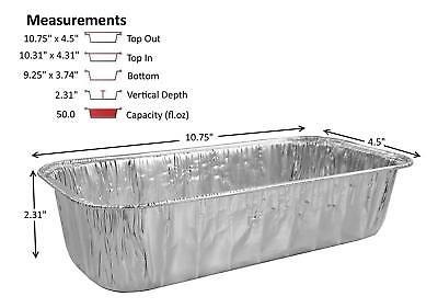 D&W Fine Pack 3 lb. Disposable Aluminum Foil Loaf Bread Baking Pans -Heavy Duty