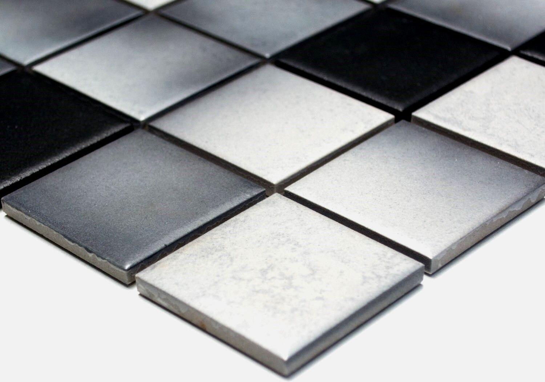 keramikmosaik fliese grau rutschemmend boden dusche art: 16-2211