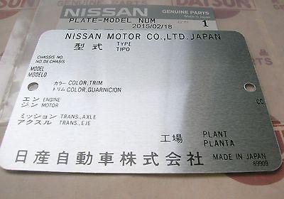 Datsun Model VIN Number Plate 240Z 280Z 1200 B110 B120 B210 B310 Ute for Nissan