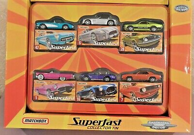 Matchbox Superfast 6 Muscle Cars set w/Collector Tin Target 2005  69 Camaro
