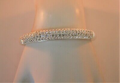 Charter Club silver tone crystal dome hinged bracelet Tone Crystal Dome