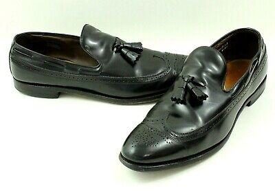 Allen Edmonds Berwick Men's Wingtip Tassel Dress Shoes Black Size 14 B