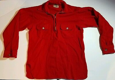 Vintage 40's Spinnaker Wool Pull Over Work Shirt Medium