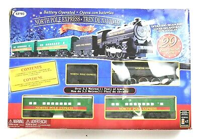 EzTec North Pole Express Christmas Train Set Battery Operated Classic Toy XMAS