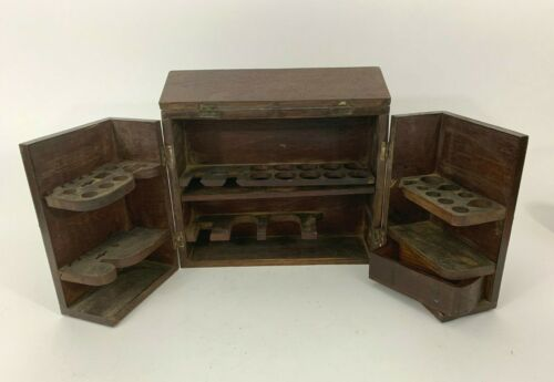 Antique19th Century Traux & Green Portable Doctors Apothecary Medical Chest