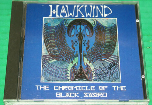 Hawkwind Chronicle Of The Black Sword Cd Autographed By Alan Davey UK Import Htf