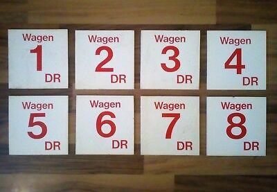 DR Reisezugwagen Nummer 1 bis 8, selten da Vollständig!!!