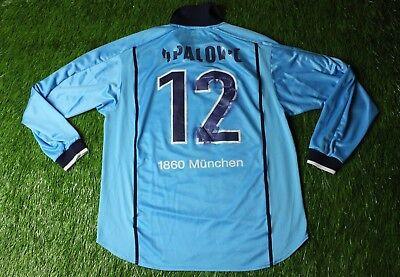 1860 MUNICH TAPALOVIC 2000/2001 MATCH WORN YES FOOTBALL SHIRT JERSEY HOME NIKE image