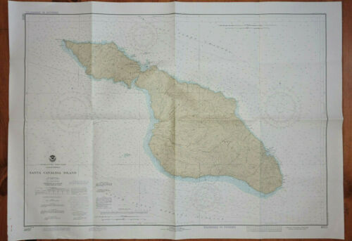 Nautical Chart Map LOT OF 7 Santa Catalina, San Diego, Transpac Routes