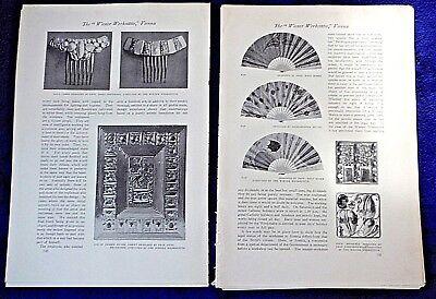 1911 WIENER WERKSTATTE VIENNA many photos antique article STUDIO INTERNATIONAL