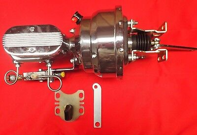1954-1956 ford chrome power brake booster and master cylinder with pro valve pv4