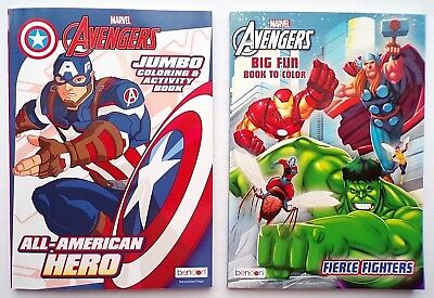 Lot of 2 AVENGERS Coloring and Activity Books for Children, Boys.. Marvel Comics](Coloring Books For Boys)