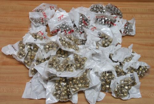 Huge Lot of 1,288 Gold & Silver Small 13mm Metal Jingle Bells Christmas Crafts