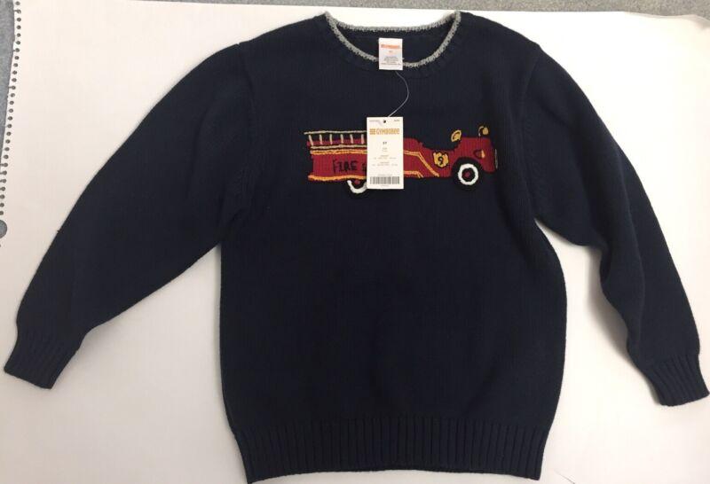 Boys Gymboree Firetruck Sweater. NWT. Size 5t.