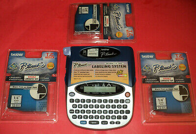 P-touch Brother Pt-1750 Label Maker Printer With 3 New Cartridges Bundle