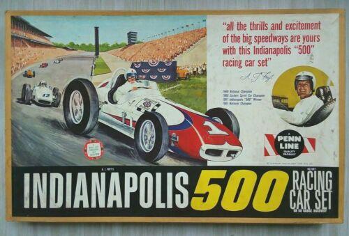 vintage A.J. FOYT INDY 500 Toy Slot Car Race Set #304 by Penn Line, New?NOS