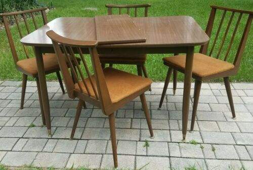 Mid-Century Dining Table With Chairs Danish Parragon Furniture.USA Vintage