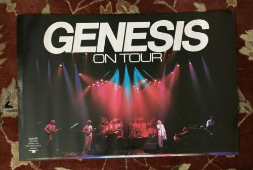 GENESIS  On Tour  rare original promotional poster from 1986  Phil Collins