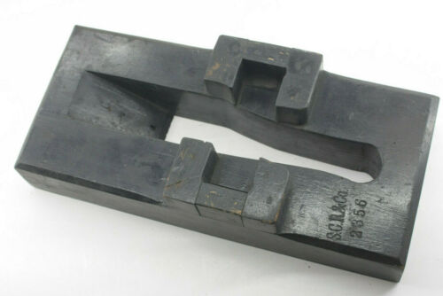 """Antique Lamson Industrial Foundry Wood ~11"""" Machine Mold Pattern Part M89"""