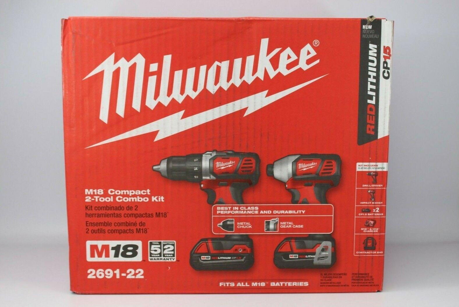 Milwaukee 2691-22 M18 18-Volt Cordless Power Lithium-Ion 2-T