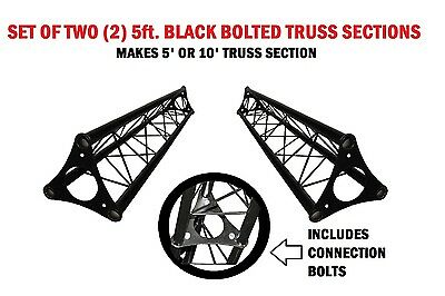 Two 5' Wide Triangular Trussing Mobile DJ Lighting Bolt Truss System Triangles