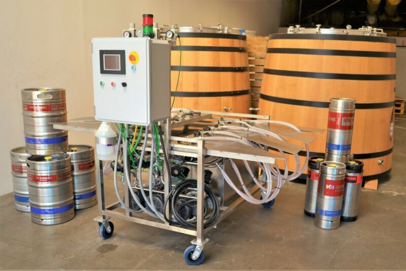 10 Head Semi-Automatic Keg Washer New made in USA.  Brewery Beer Sanitary Kegs