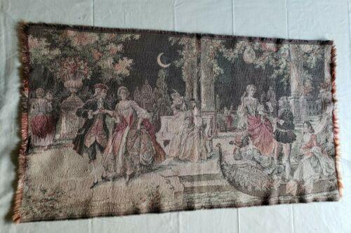 Beautiful Vintage Tapestry Made in Belgium 35 X 19 Dancing Gathering