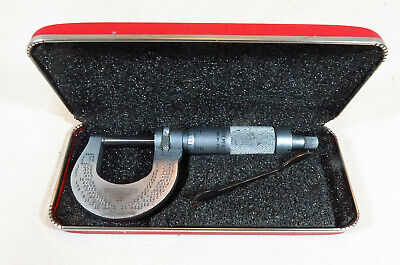 Vintage Brown And Sharpe Providence Ri 13 Machinist Micrometer Up To 1