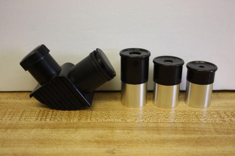 "Telescope .965"" Three Eyepiece Kit - 6mm 12.5mm 20mm & 90 Degree Star Diagonal"
