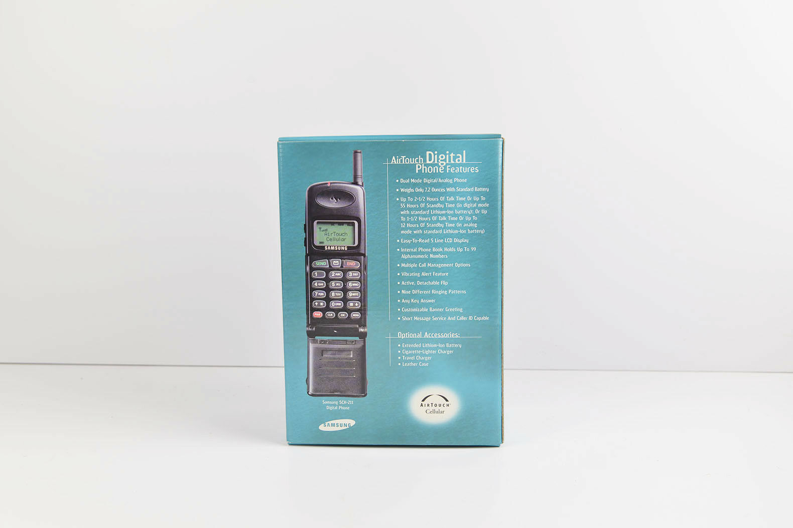 Vintage New Samsung SCH-211 Portable Airtouch CDMA Phone Black