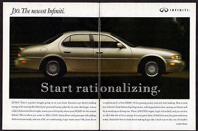 1992 INFINTI J30 Vintage Original 2 Page Print AD - Gray 4-door car photo Canada for sale  Quebec