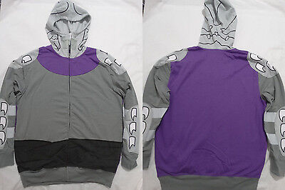 Teenage Mutant Ninja Turtles Shredder Tmnt Costume Zip up Hoodie Jacket Shirt S