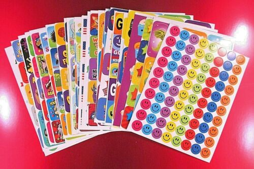 Vintage Eureka Sticker Sheet *You Choose* Animals-Dinosaurs-Smileys ETC