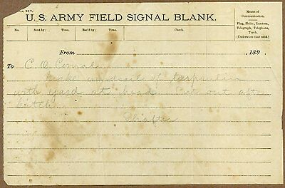 U. S. Army Field Signal Blank, 1890's, Construction of a Sail