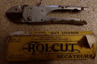 Vintage Rolcut No1 Garden Plant flower Pruning Secateurs, Nice Condition boxed