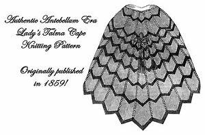 Cape-Pattern-Knitting-Antebellum-Victorian-Civil-1859