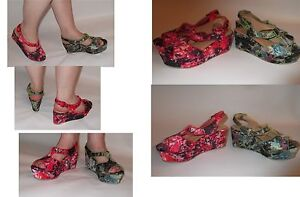 womens-floral-print-wedge-peep-toe-buckle-platform-strapheel-sandals-size-uk-3-8