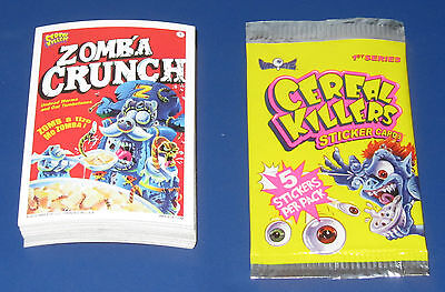 CEREAL KILLERS SERIES 1 STICKERS COMPLETE SET 1-55 NM/MT CONDITION