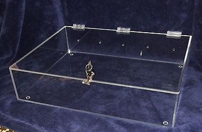 Locking Showcase Tray 18 X 14 X 4 Acrylic Countertop Display Case