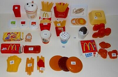 Vintage Fisher Price McDonald's Drive Thru Play Food Replacement Pieces U Choose