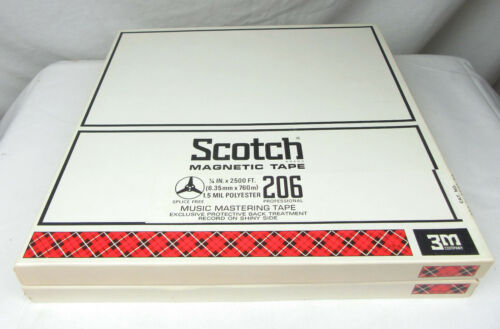Scotch 206 Reels with Tape and Boxes, 1/4 x 10.5, Set of 2 - Used, Free Shipping